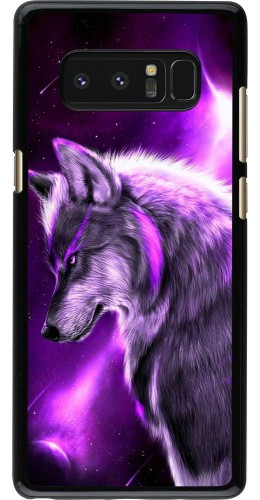 Coque Samsung Galaxy Note8 - Purple Sky Wolf