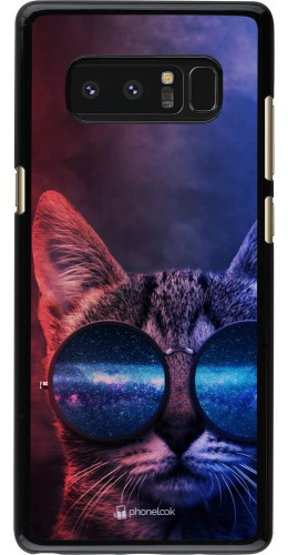 Coque Samsung Galaxy Note8 - Red Blue Cat Glasses