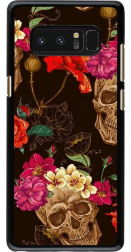 Coque Samsung Galaxy Note8 - Skulls and flowers