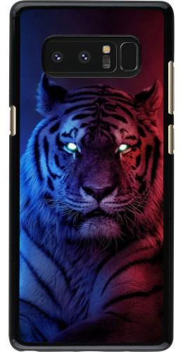 Coque Samsung Galaxy Note8 - Tiger Blue Red