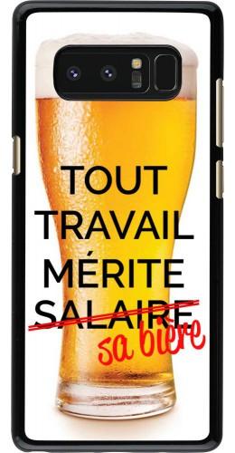 Coque Samsung Galaxy Note8 - Tout travail mérite sa bière
