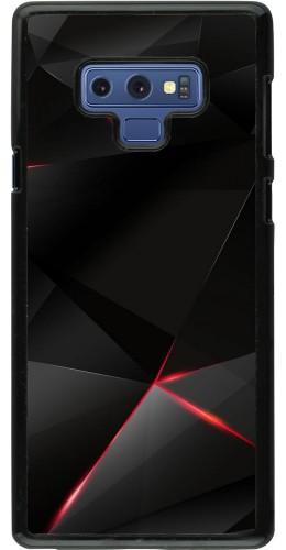 Coque Samsung Galaxy Note9 - Black Red Lines