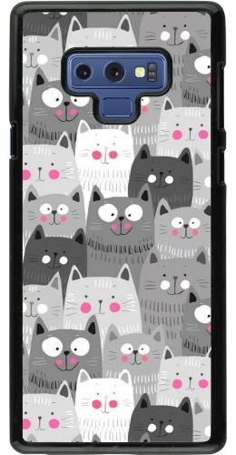 Coque Samsung Galaxy Note9 - Chats gris troupeau