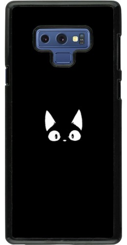 Coque Samsung Galaxy Note9 - Funny cat on black