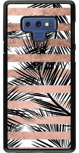 Coque Samsung Galaxy Note9 - Palm trees gold stripes