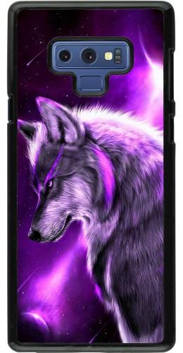 Coque Samsung Galaxy Note9 - Purple Sky Wolf