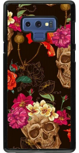 Coque Samsung Galaxy Note9 - Skulls and flowers