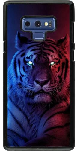 Coque Samsung Galaxy Note9 - Tiger Blue Red
