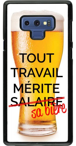 Coque Samsung Galaxy Note9 - Tout travail mérite sa bière
