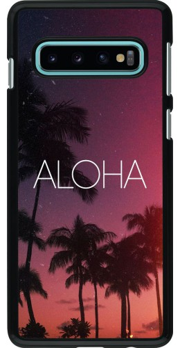 Coque Samsung Galaxy S10 - Aloha Sunset Palms
