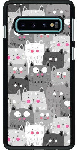 Coque Samsung Galaxy S10 - Chats gris troupeau