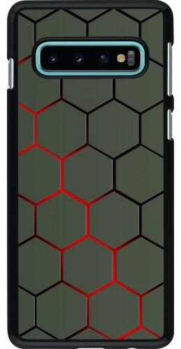 Coque Samsung Galaxy S10 - Geometric Line red