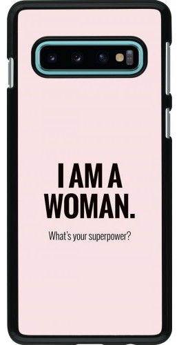 Coque Samsung Galaxy S10 - I am a woman