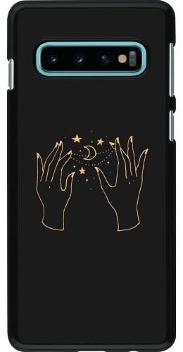 Coque Samsung Galaxy S10 - Grey magic hands