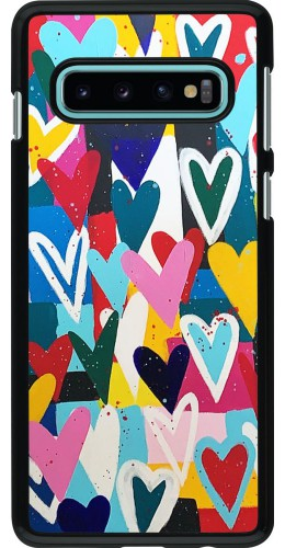 Coque Samsung Galaxy S10 - Joyful Hearts