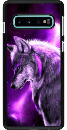 Coque Samsung Galaxy S10 - Purple Sky Wolf