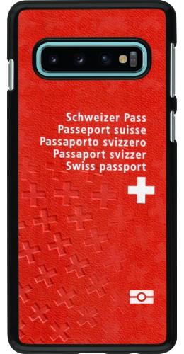 Coque Samsung Galaxy S10 - Swiss Passport