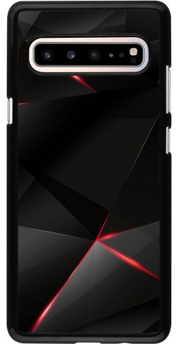 Coque Samsung Galaxy S10 5G - Black Red Lines