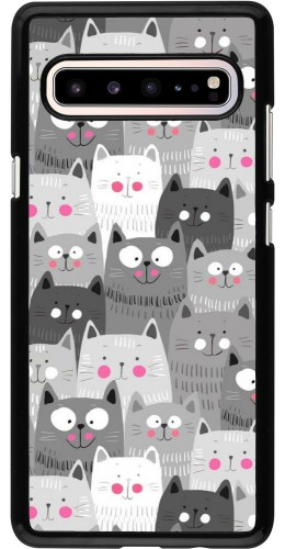 Coque Samsung Galaxy S10 5G - Chats gris troupeau