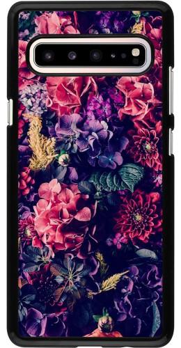 Coque Samsung Galaxy S10 5G - Flowers Dark