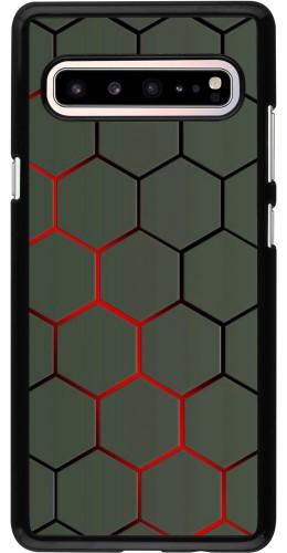 Coque Samsung Galaxy S10 5G - Geometric Line red