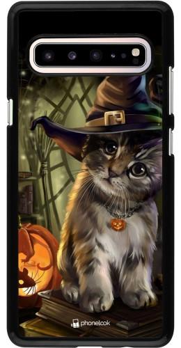Coque Samsung Galaxy S10 5G - Halloween 21 Witch cat