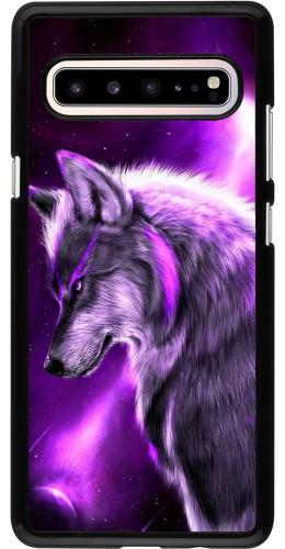 Coque Samsung Galaxy S10 5G - Purple Sky Wolf