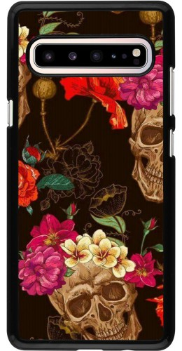Coque Samsung Galaxy S10 5G - Skulls and flowers