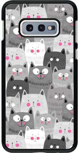 Coque Samsung Galaxy S10e - Chats gris troupeau