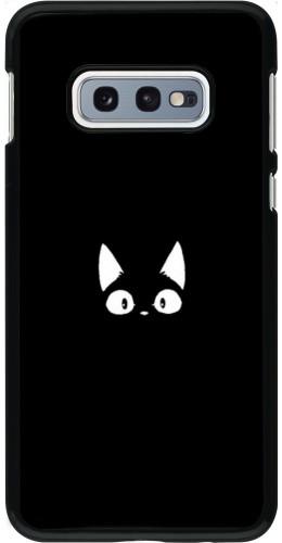 Coque Samsung Galaxy S10e - Funny cat on black