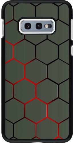 Coque Samsung Galaxy S10e - Geometric Line red