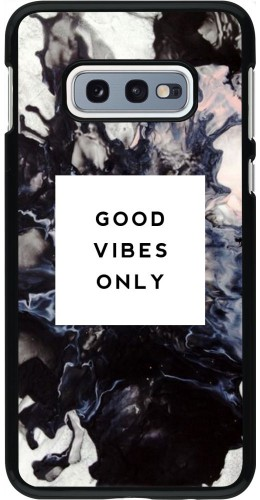 Coque Samsung Galaxy S10e - Marble Good Vibes Only