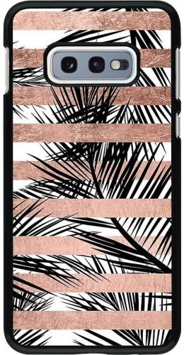 Coque Samsung Galaxy S10e - Palm trees gold stripes