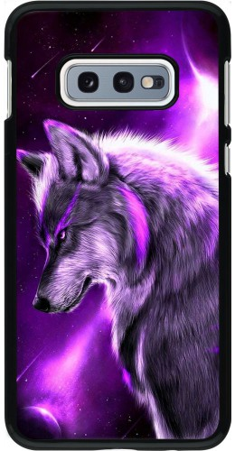 Coque Samsung Galaxy S10e - Purple Sky Wolf