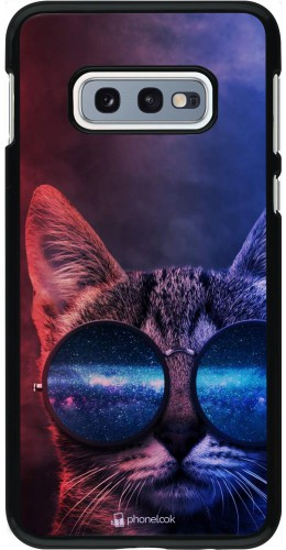 Coque Samsung Galaxy S10e - Red Blue Cat Glasses