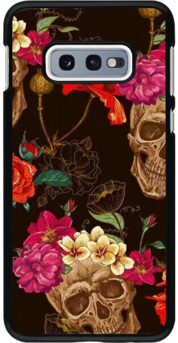 Coque Samsung Galaxy S10e - Skulls and flowers