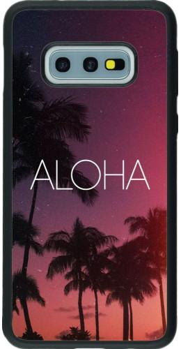 Coque Samsung Galaxy S10e - Silicone rigide noir Aloha Sunset Palms