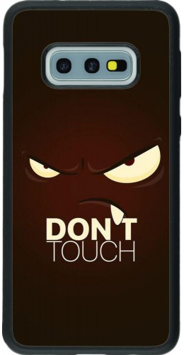 Coque Samsung Galaxy S10e - Silicone rigide noir Angry Dont Touch