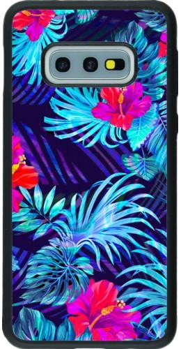 Coque Samsung Galaxy S10e - Silicone rigide noir Blue Forest