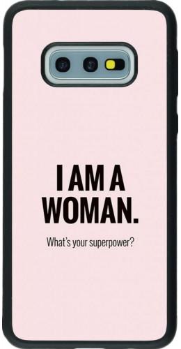 Coque Samsung Galaxy S10e - Silicone rigide noir I am a woman
