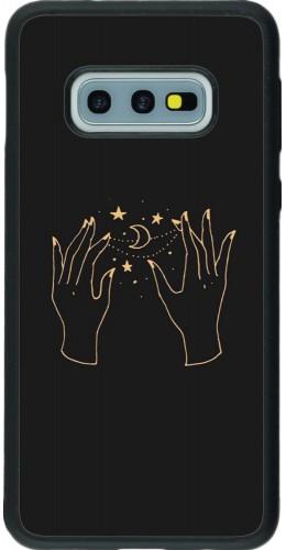 Coque Samsung Galaxy S10e - Silicone rigide noir Grey magic hands