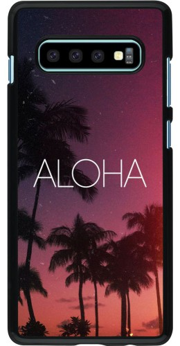 Coque Samsung Galaxy S10+ - Aloha Sunset Palms