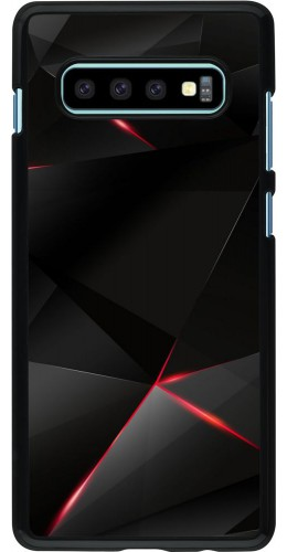 Coque Samsung Galaxy S10+ - Black Red Lines
