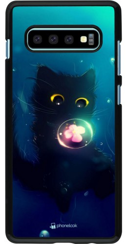 Coque Samsung Galaxy S10+ - Cute Cat Bubble