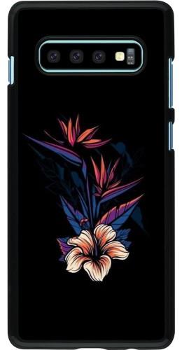 Coque Samsung Galaxy S10+ - Dark Flowers