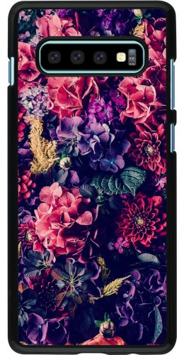 Coque Samsung Galaxy S10+ - Flowers Dark