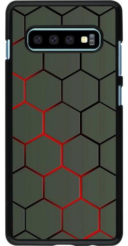 Coque Samsung Galaxy S10+ - Geometric Line red