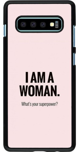 Coque Samsung Galaxy S10+ - I am a woman