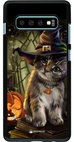 Coque Samsung Galaxy S10+ - Halloween 21 Witch cat