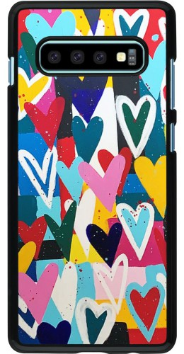 Coque Samsung Galaxy S10+ - Joyful Hearts